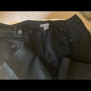 Linen pants with lining